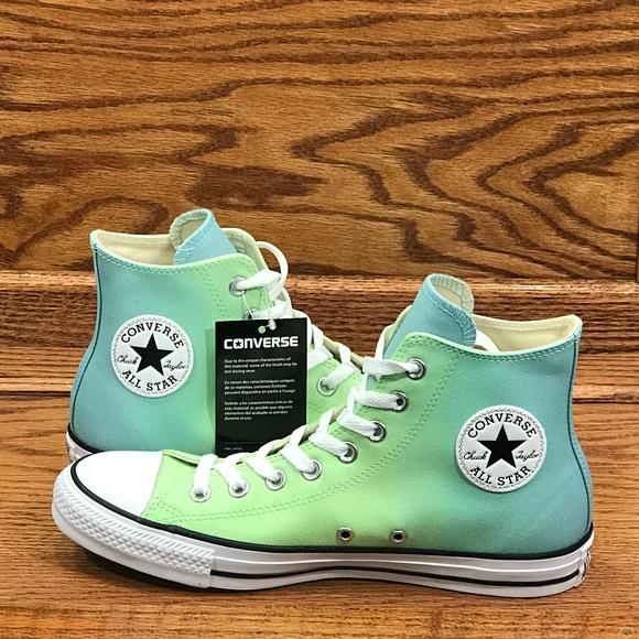 d9ffea98e3ba Converse CT Hi Illusion Green Bleached Aqua Shoes
